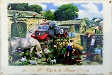 Metal Plate Vintage Tractor Summer to the Farm - 20 x 30 CM
