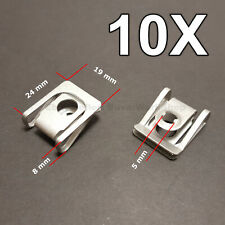 10X Body Trim Panel Nut, Under Tray Engine Cover Nut for BMW, Audi, Volkswagen