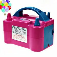 Dual Nozzle Portable Electric Balloon Air Inflator Pump with UK Plug
