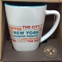 Dunkin Donuts New York Coffee Mug Queens The City Staten Island Words