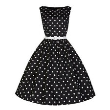 Womens 50's 60's Rockabilly Swing Dress Vintage Pinup Cocktail Party Dresses