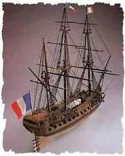 """Regal, finely detailed wooden model ship kit by Euromodel: """"La Renommee"""""""