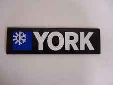 York Air Conditioner Plastic Sign Placard