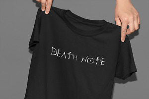 Death Note - Anime - Cool Cotton Tee Graphic T-Shirt - Black