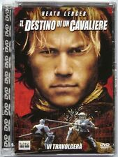 Dvd Il Destino di un Cavaliere Super jewel box con Heath Ledger 2001 Usato raro