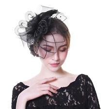 Charms Mesh Flower Feather Fascinator Headband Hat Wedding Prom Ladies Headpiece