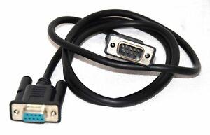 Cordon / Câble série RS232C - Prolongateur Mâle / Femelle - noir