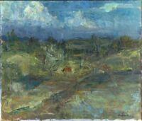 """Russischer Realist Expressionist Öl Leinwand """"Wolken"""" 69 x 60 cm"""