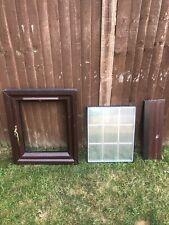 UPVC Double Glazed Mahogony Wood Effect Window 60cm X 70cm Frame