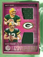 Packers Farve Rodgers Dual Relic 3/75 2018 Panini Elements