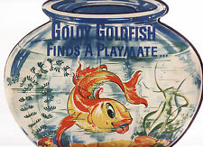 GOLDY GOLDFISH FINDS A PLAYMATE - ALSTAD vintage shaped  picture story book c40'