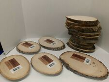 Lot Of 16 Basswood Plaques, Small Oval Wood Plaques