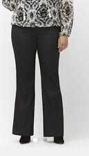 Lane Bryant 28W Short Plus Lena Sexy Stretch Stripe Bootcut Pant Trouser $70 New