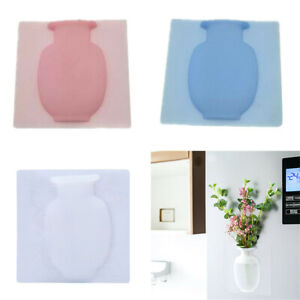 Silicone Sticky Vase Wall Stick Flower Pot Magic Vases Home Offices Wall Decor