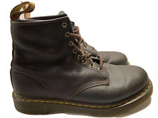 Dr Martens Docs Brown Leather Boots Mens 11 UK 10 EU 45 Combat Work Moto Shoes