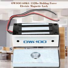 Door DC 12V Electric Magnetic Electromagnetic Lock 60KG (132LB) Hold Force J0K4