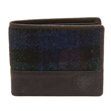 The British Bag Company - Bragar Harris Tweed Wallet with Black Leather Trim