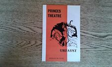 URFAUST PRINCES THEATRE, LONDON, PROGRAMME 1959. MAX VON SYDOW - RARE