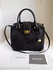 Brand New Brahmin Oxford Satchel Black Piazza Genuine Leather Handbag K39665BK