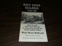 1986 WEST SHORE RAILROAD LEWISBURG, PA  TIMETABLE