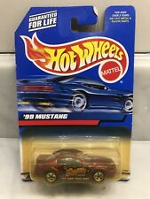 Hot Wheels 2000 FORD 99 MUSTANG RED DARK BUBBLE MATTEL WHEELS CARS B-G-GN