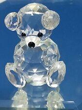 "Swarovski crystal Large Teddy Bear block logo 2"" tall"
