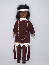 Vintage 11 Inch Indian Doll w/ Genuine Leather Made in Canada
