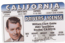 Clark Gable GONE WITH THE WIND plastic  collector card Drivers License