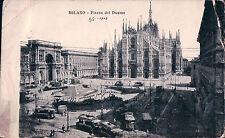 1903 CARTOLINA DI MILANO PIAZZA DEL DUOMO  13-97