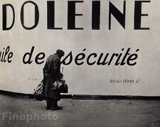 1927/72 Vintage 11x14 SECURITE Paris Homeless Woman Street Photo ~ ANDRE KERTESZ