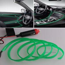 2M 12V EL Wire Green Cold light Neon Lamp Atmosphere Unique Decor For Nissan