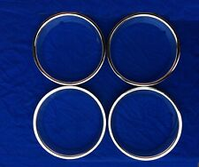 "Ford Taunus CORTINA TC1 TC2 TC3 GXL S.Steel Chrome 13"" Wheel Trim Rings Set of4"