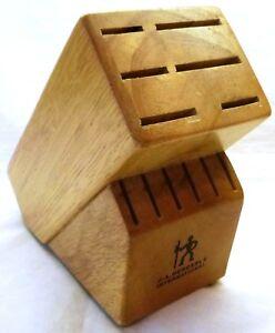 J.A. Henckels-Wooden Knife Block, 12 Slot Knife Holder, Model #B946