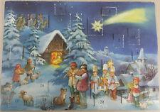 Vintage Christmas Postcard-sized mini ADVENT CALENDAR