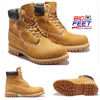 NEW Size 18 Timberland Wheat Men's 6-Inch Premium Waterproof Construction Boots