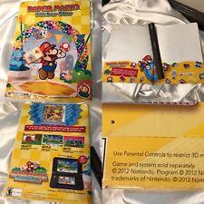 Nintendo Paper Mario Sticker Star FOLDER Promo Display Rare Zelda Mario 3DS 2012