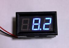 RED LED 12 volt Battery Voltmeter Panel Mount 4.5v - 30v