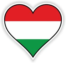 HUNGARY HEART vinyl STICKER bumper decal GIFT LOVE FLAG BIKE MOTO LAPTOP TABLET