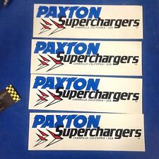 Paxton Supercharger Decals Mustang 5.0 Shelby Studebaker Camaro Racing Hot Rod