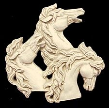 3D HORSES WALL PLAQUE EQUINE ANIMAL HOME DECOR 24200