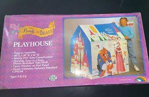 New Vintage ERO Slumber Shoppe Disney Beauty & The Beast Kids Tent Playhouse