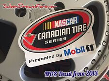 2013 NASCAR CANADIAN TIRE SERIES MOBIL ONE RACE RACING DECAL STICKER FORD CHEVY