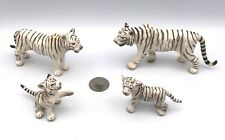 Schleich WHITE TIGER FAMILY Male Female & Cubs Wildlife Figures 2007 Retired