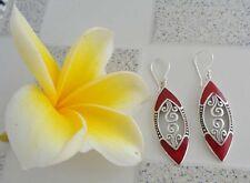 Gemstone Solid Silver, 925 Balinese Filigree Design Earring 39109