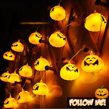 Pumpkin 16 LED String Lights Halloween Home Decoration Party Indoor Light 🔥
