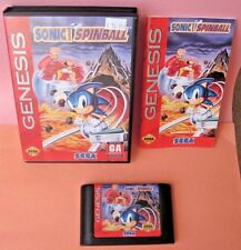 Sonic the Hedgehog Spinball Sega Genesis Game Complete with Box & Manual
