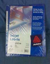Avery J8162-40 Inkjet Labels New Still Sealed 40 Sheets 16 Labels Per Sheet (H2)