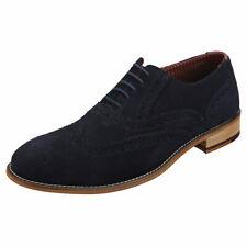 London Brogues Clive Mens Navy Brogue Shoes - 8 UK