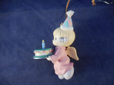 precious moments 1995 angel with cake Happy Birthday Jesus