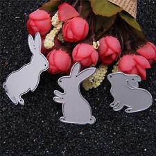 3X Rabbit Metal Cutting Dies Stencil DIY Scrapbooking Album Card Embossing Craft